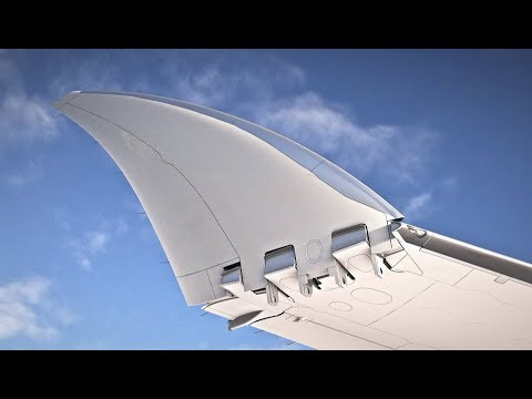 Boeing 777X folding wingtips