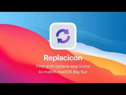 Replacicon: find and replace app icons to match macOS Big Sur