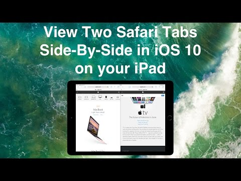 View Two Safari Tabs Side By Side in iOS 10 on your iPad