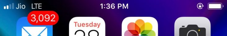 Battery percentage OFF