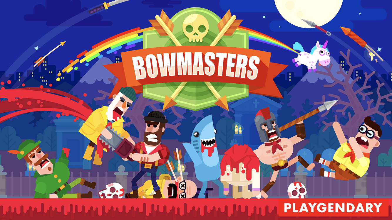 Bowmasters multiplayer game review.