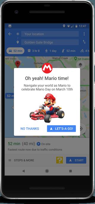 Mario Cart on Google Maps