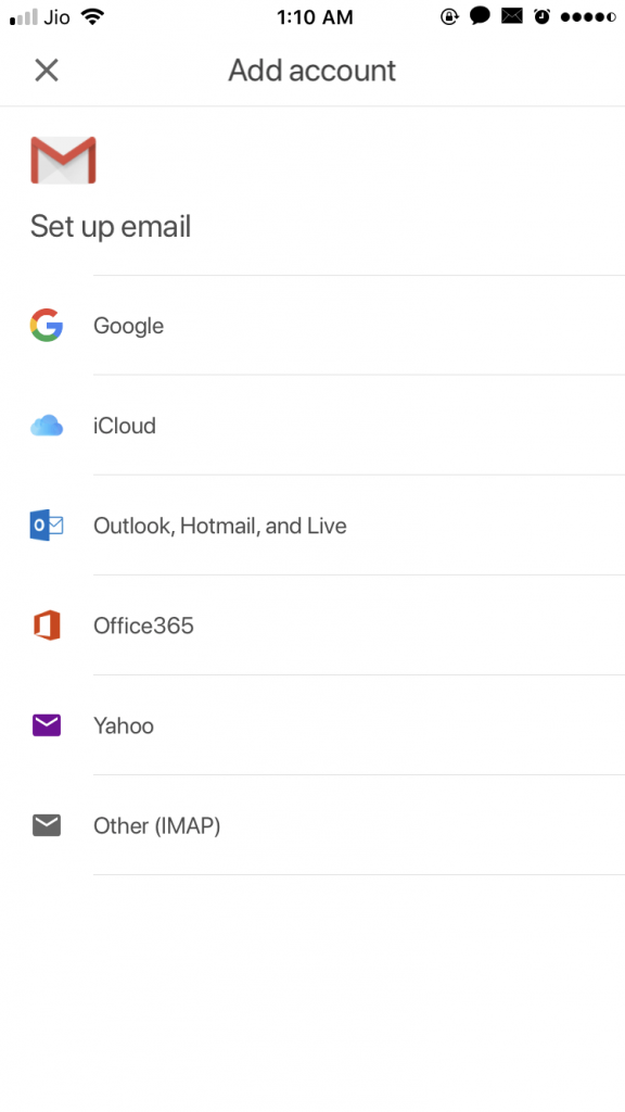 e-mail services offered by the Gmail app.