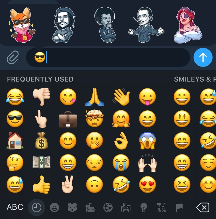 Telegram emoji equivalency
