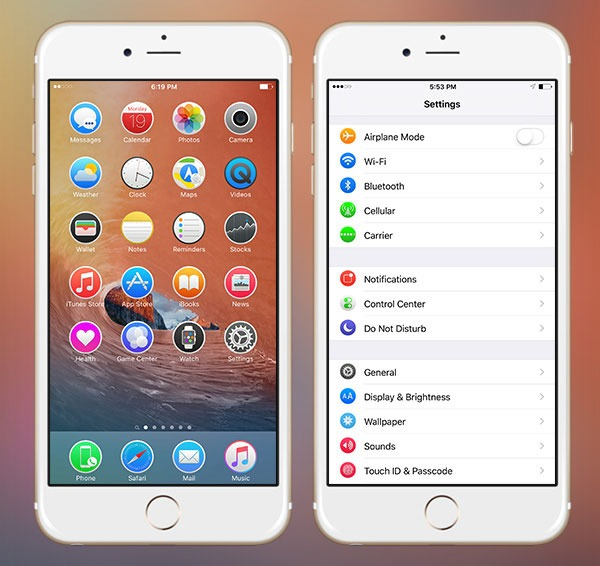18 Wonderful iPhone Themes that you can install using Anemone!