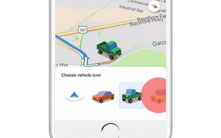 Google Maps blue navigation arrow 805
