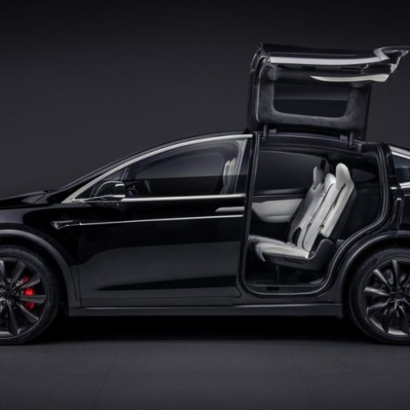 Tesla roll over test for model x