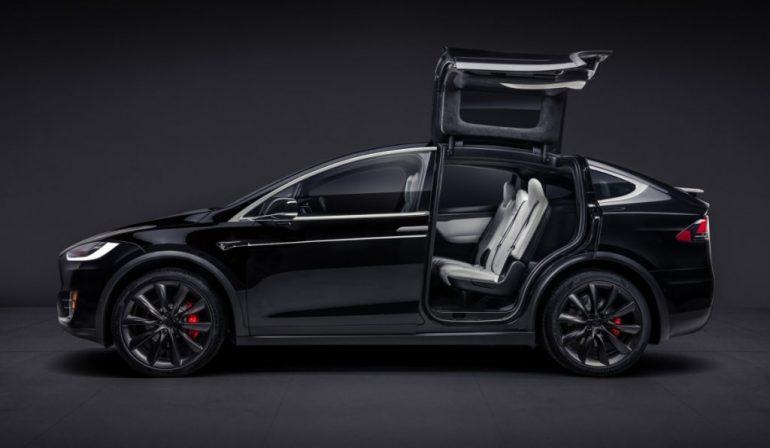 Tesla roll over test for model x