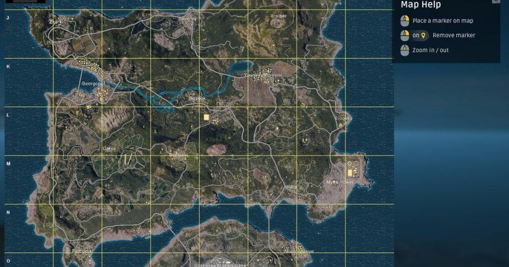 PUBG Mobile map