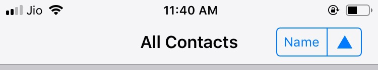 How to know the name of the recently saved contact?