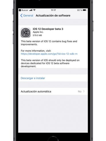 iOS 12 Developer Beta 3