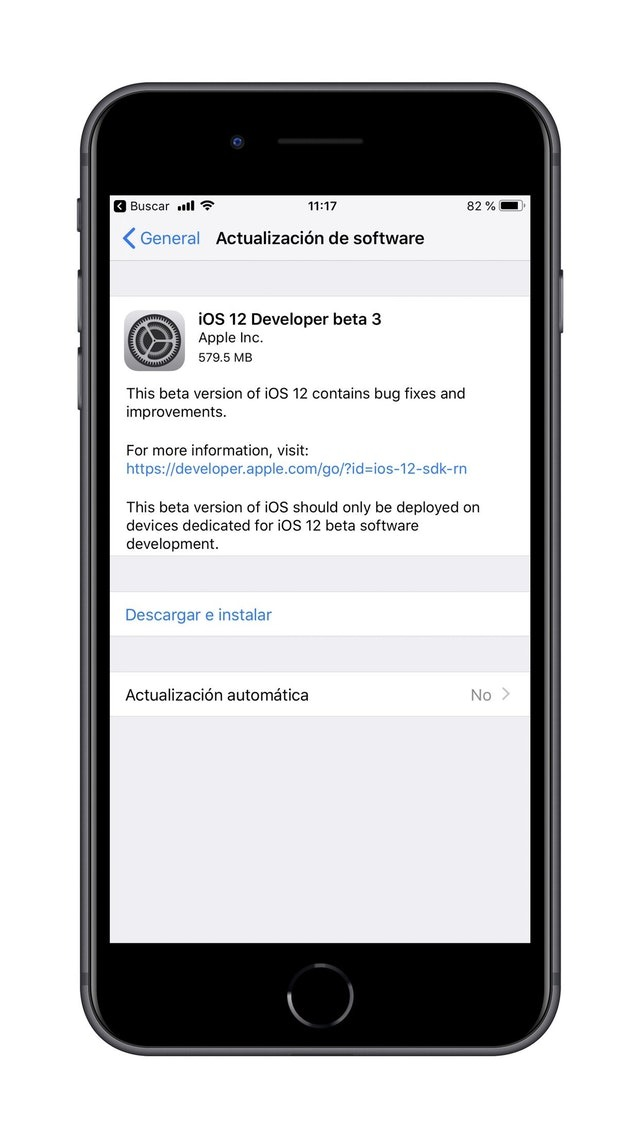 iOS 12 Developer Beta 3