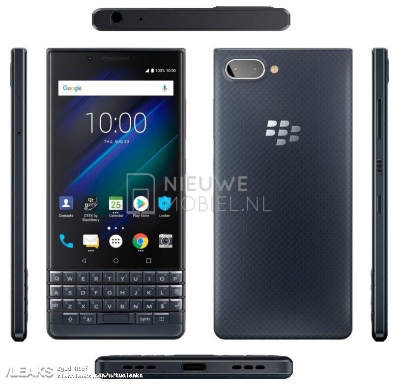 BlackBerry Key 2 LE leaked renders.