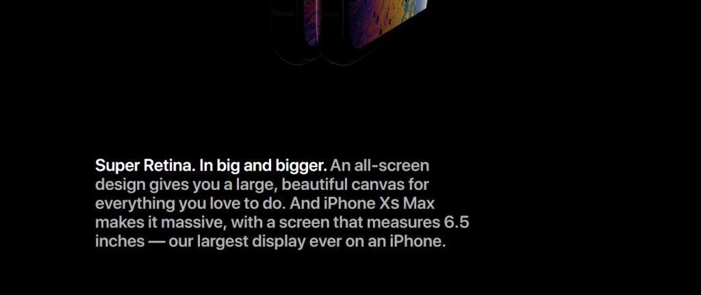 iPhone XS Display description. 1