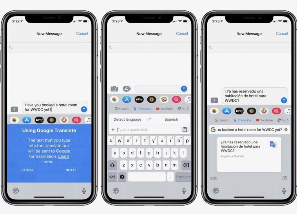 gboard translate ios iphone