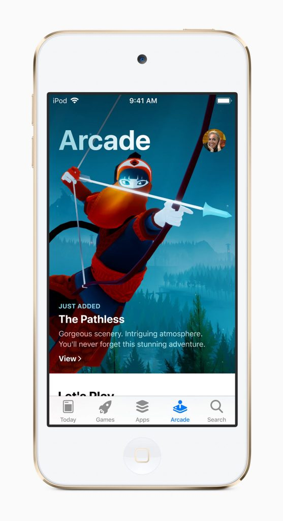 ipodtouch apple arcade screen 06032019