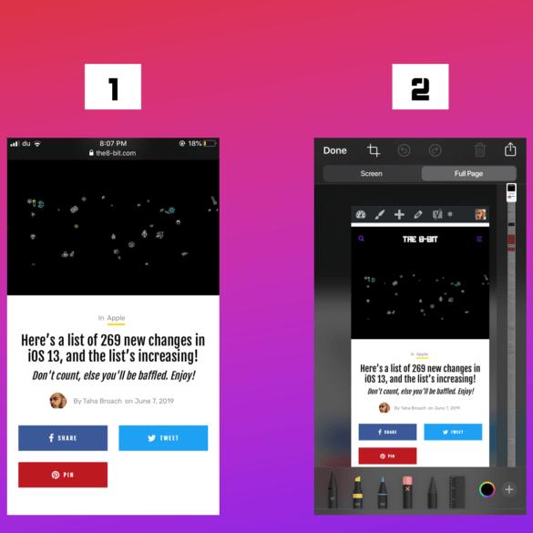 Long Screenshots iOS 13