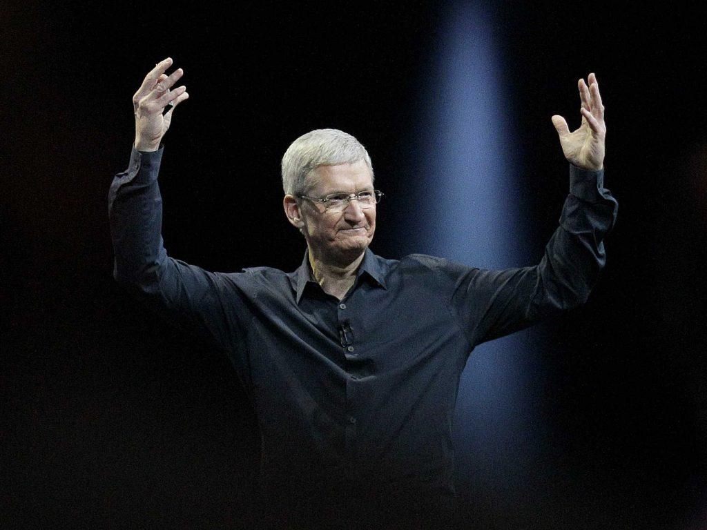 Tim Cook Raising his Hands