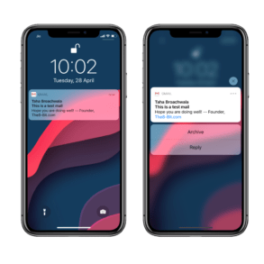 iPhone Notification Haptic Touch