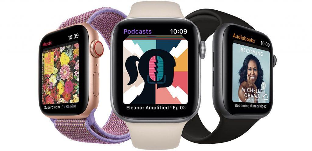 watchos6 series4 audiobooks podcasts music hero
