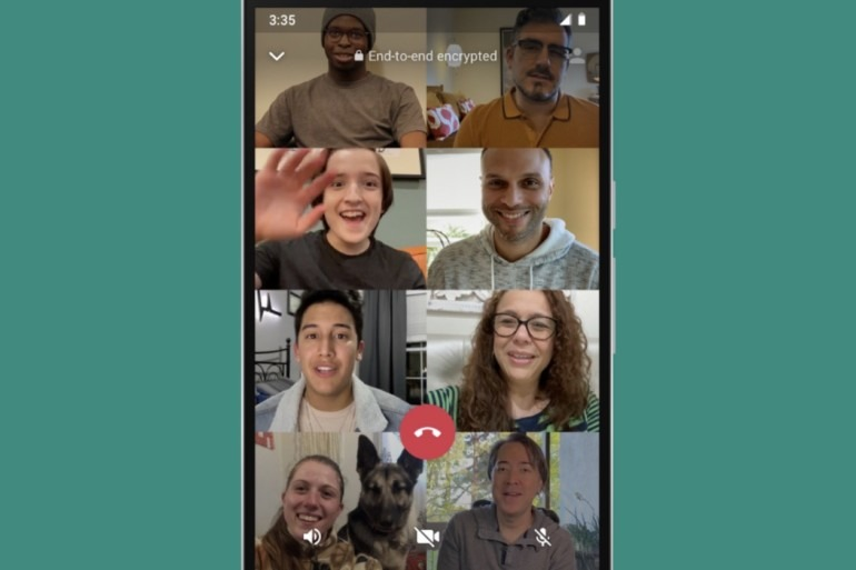 whatsapp group video chat