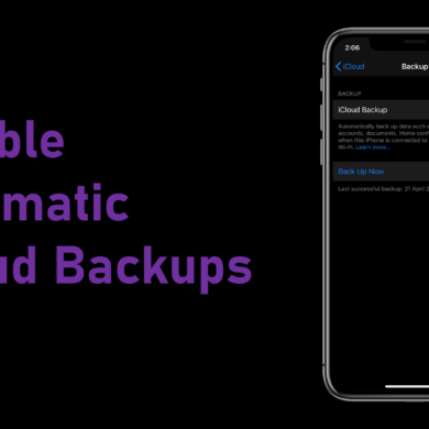 Disable automatic iCloud backups
