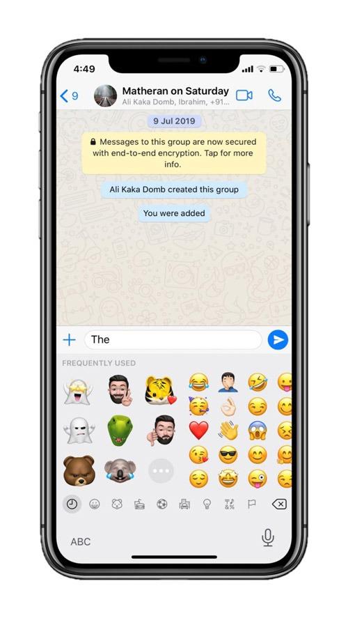 Emoji Keyboard on iOS