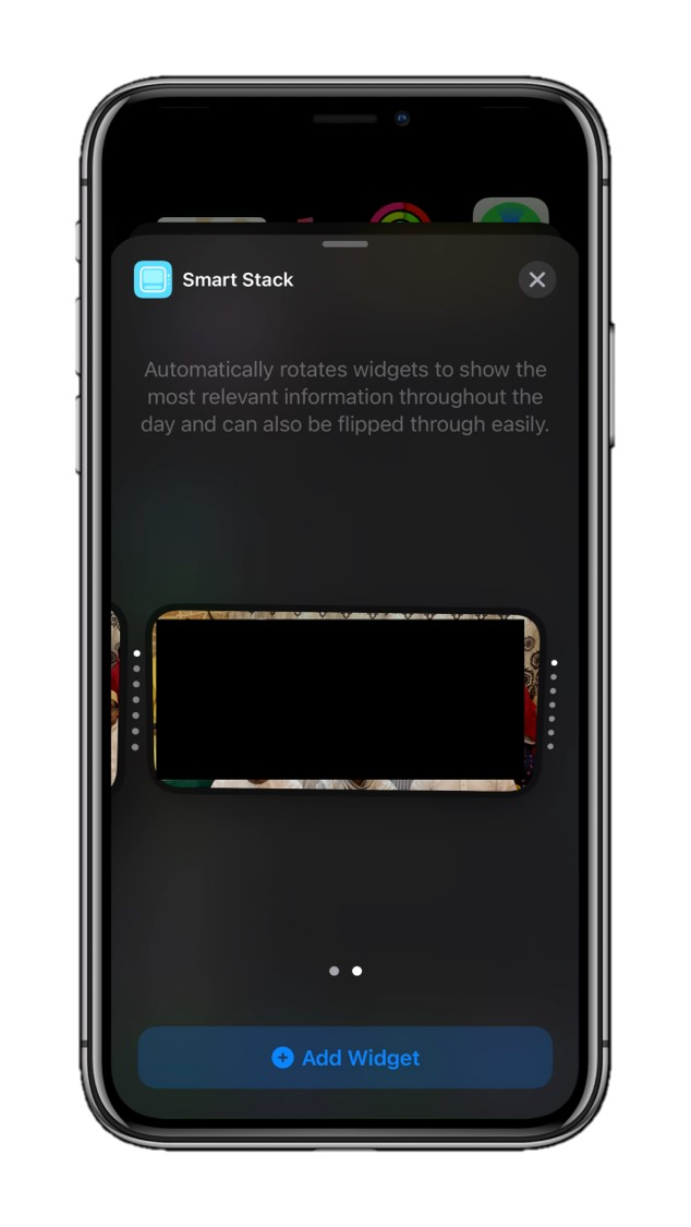 Choose size of the smart stack