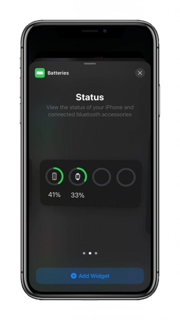 Medium Battery Widget iOS 14
