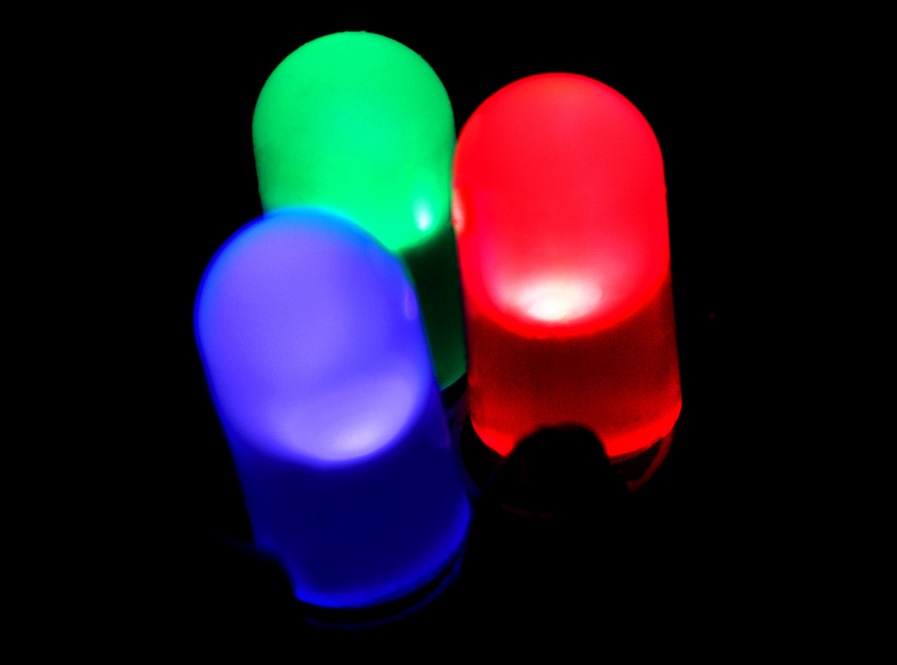 Individual LEDs. Red, Green, and Blue