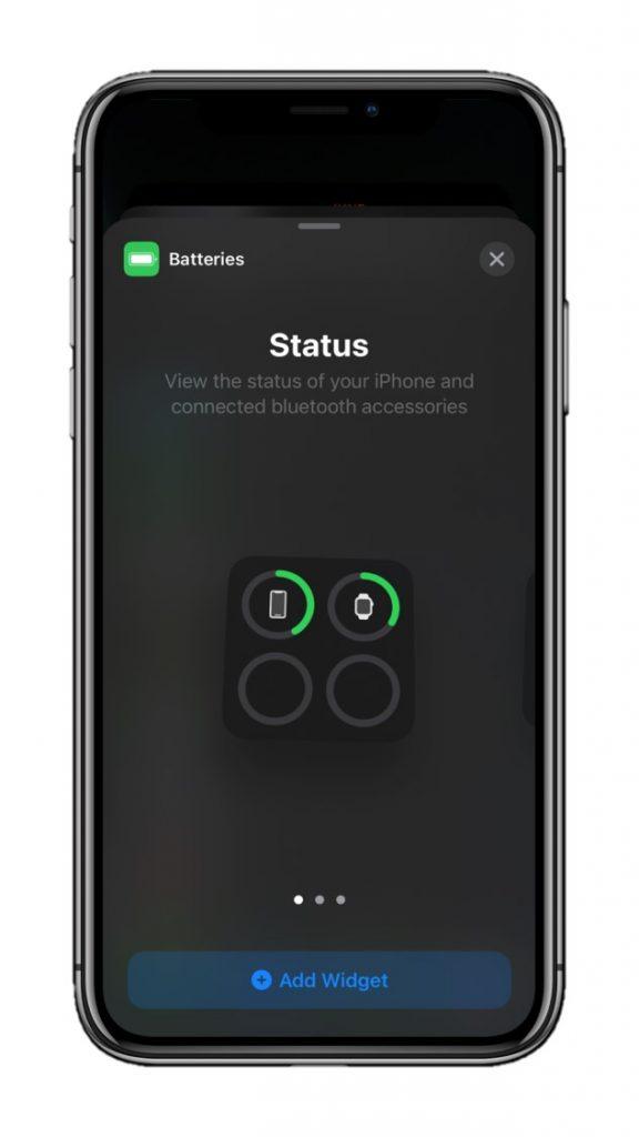 Small Battery Widget iOS 14