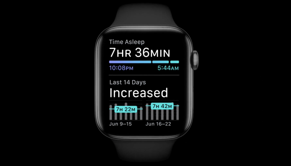 watchOS 7 Sleep app