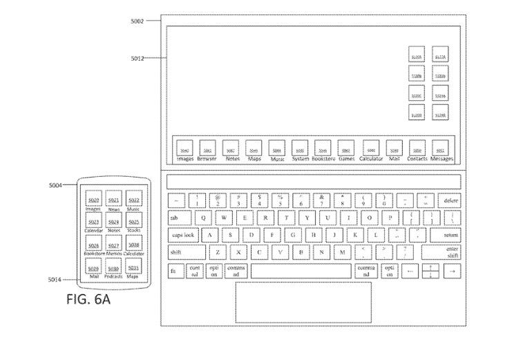 Touchscreen MacBook patent