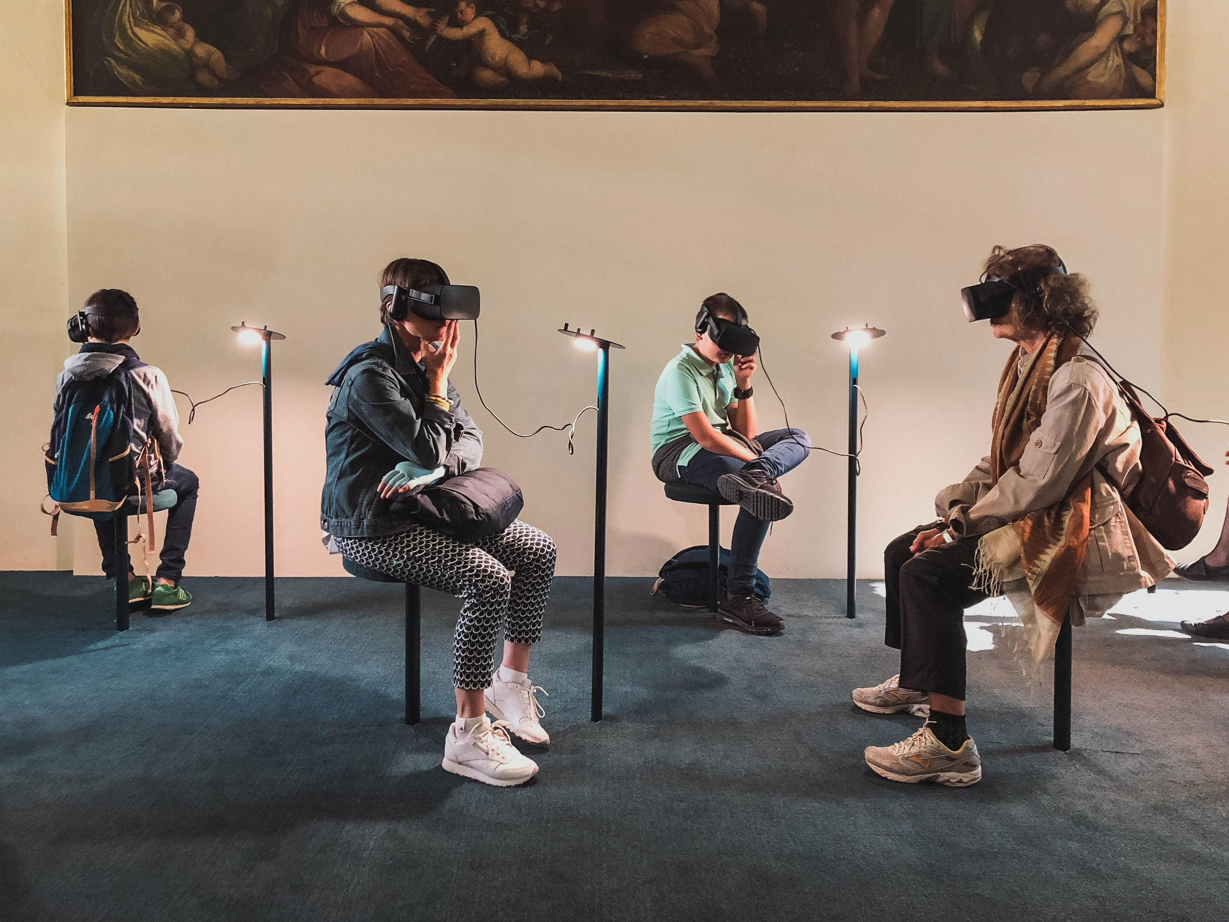 People immersed in Virtual Reality.