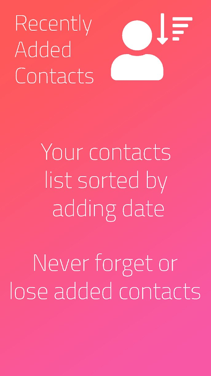 Recently Added Contacts App from the Play Store