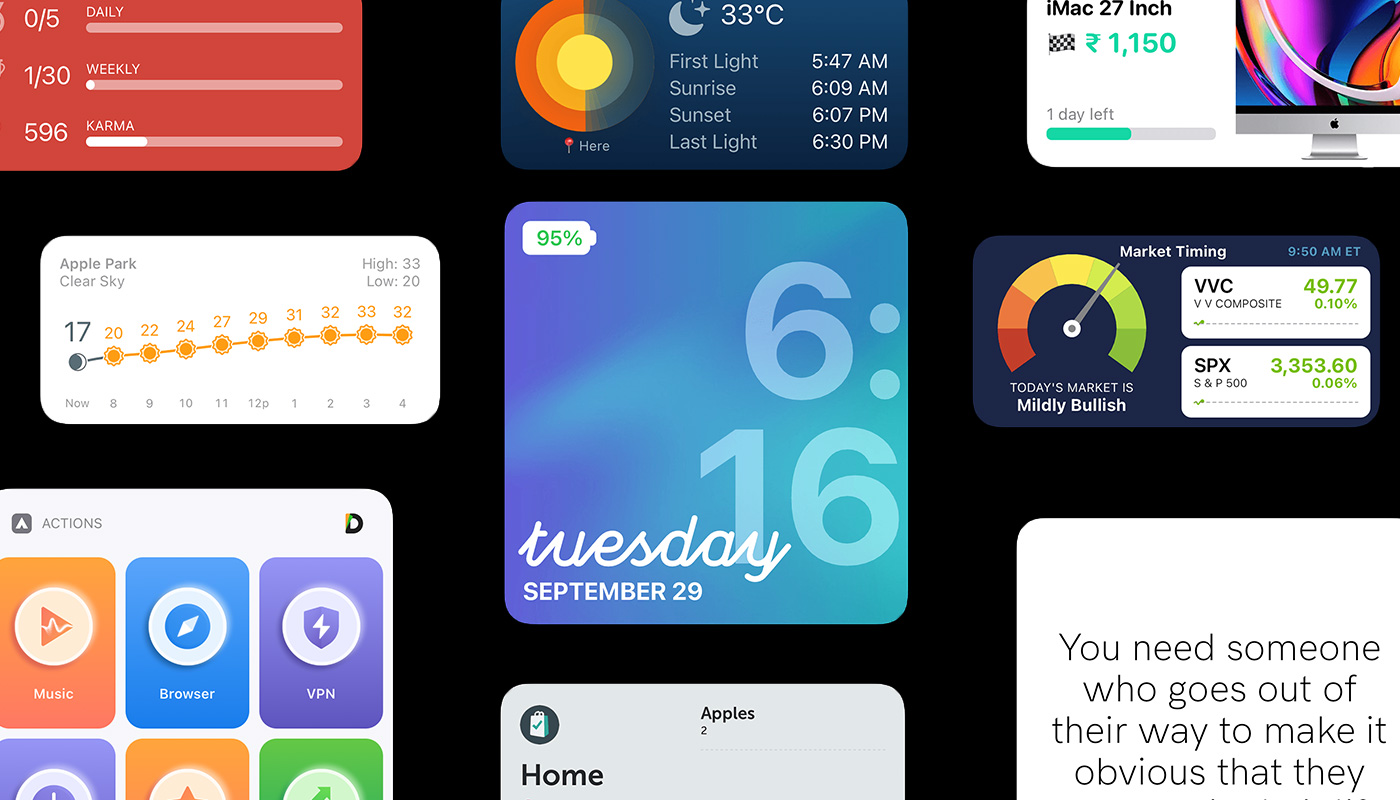Best iOS 14 Widget apps