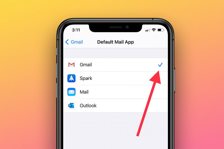 How to set Gmail as default email app on iphone