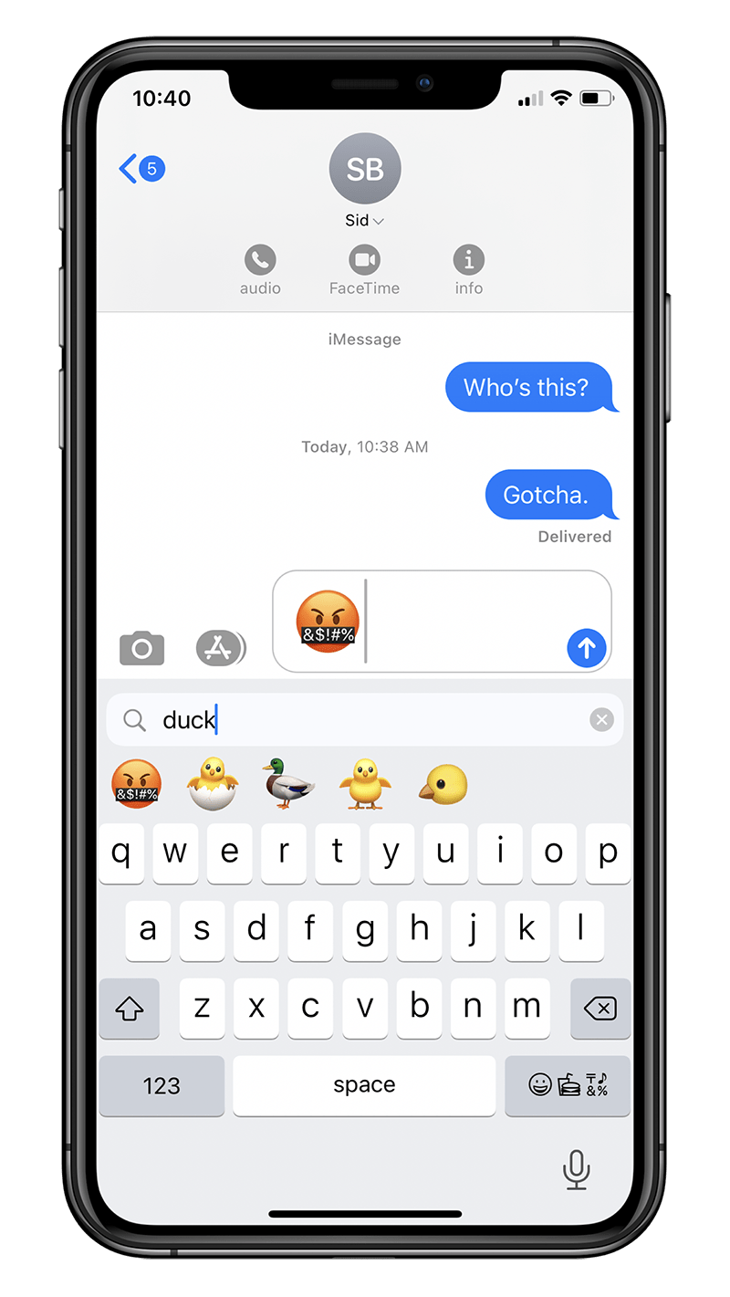 How to quickly search for emoji on your iPhone's keyboard on iOS 14!- Step 4