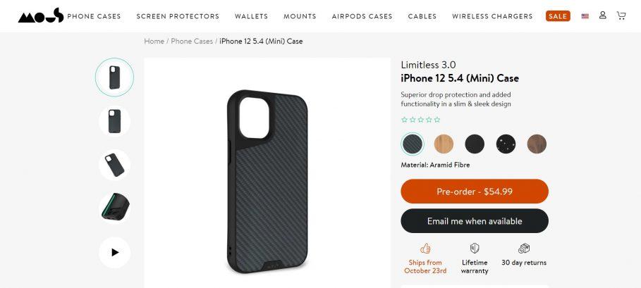 Mous iPhone 12 mini Case
