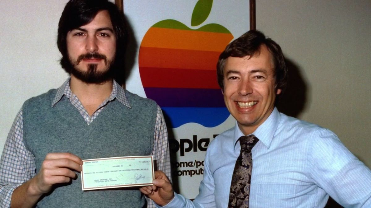 Steve with Mike Markkula