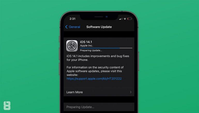 iOS 14.1 update