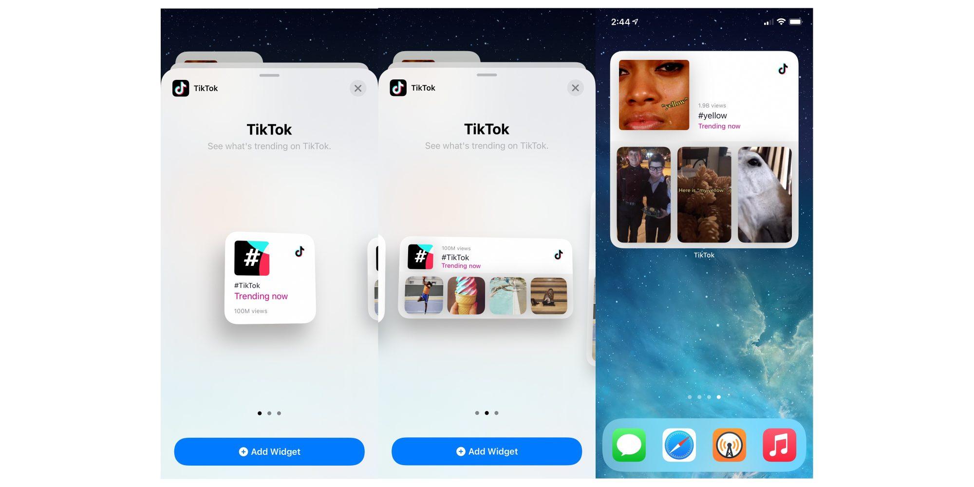 tiktok widgets