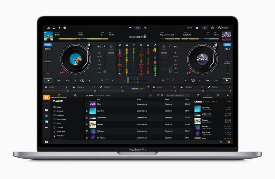 Apple m1 chip macbookpro dj pro screen 11102020