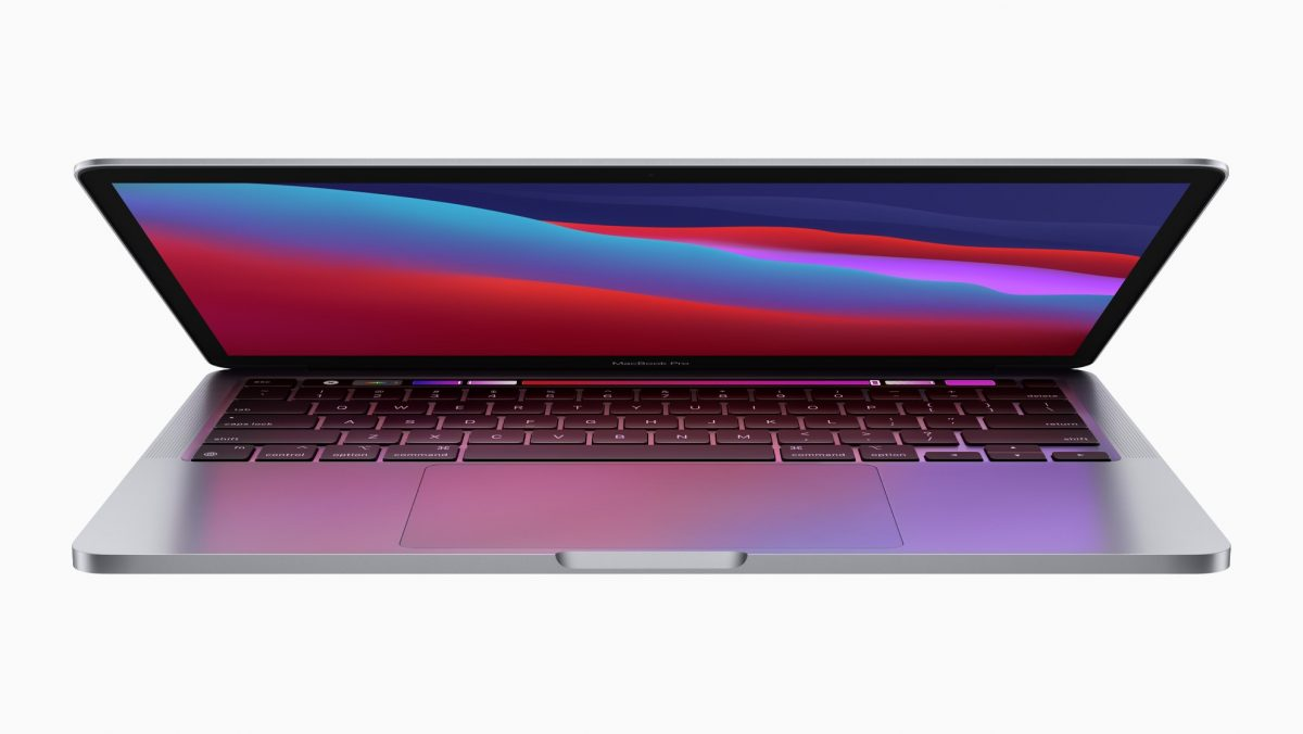 13-inch MacBook Pro with M1 Chip half folded
