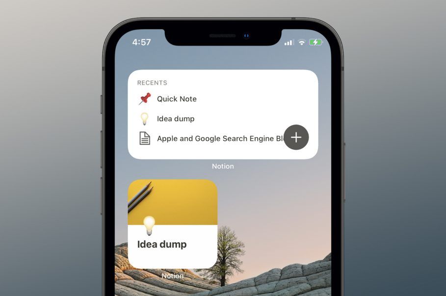 Notion Home Screen Widgets