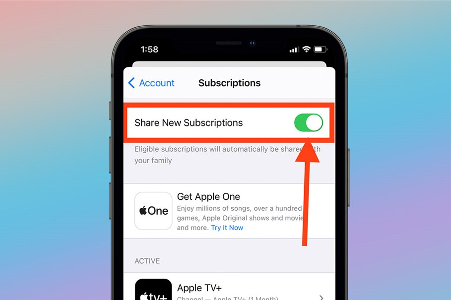 App Store Subscription Family Sharing