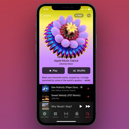 Apple Music revamped album and playlist artwork