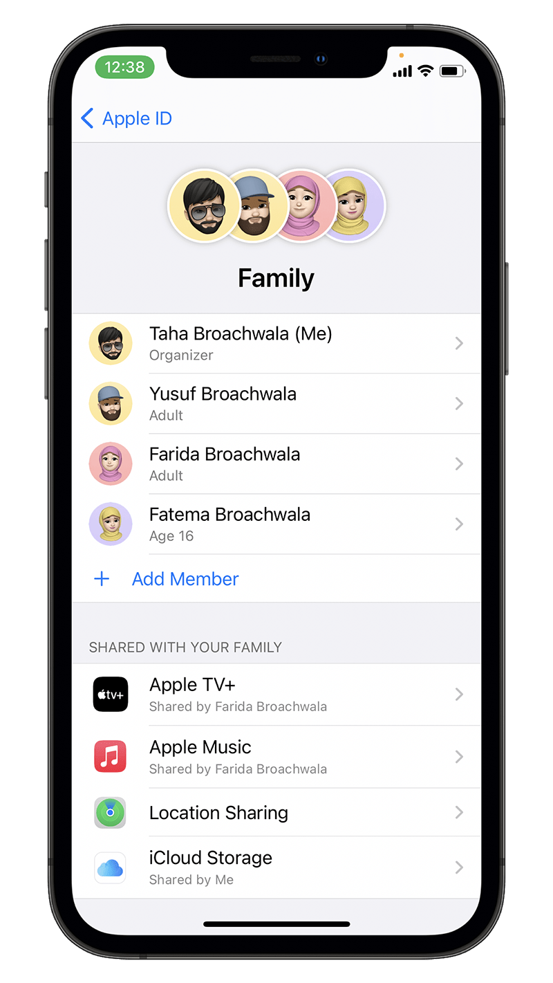 iCloud Family Sharing for App Store Subscriptions