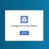 Google Drive File Stream login