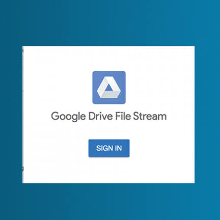 Google Drive File Stream login